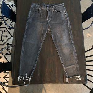 Gap like new girlfriend black denim jeans